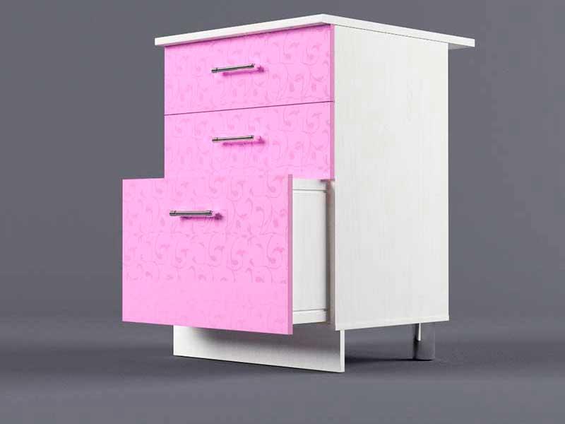 Шкаф напольный Н600 3ящ 850х600х600 Фиолетовый