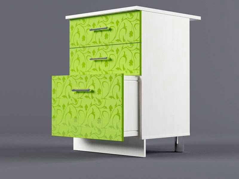Шкаф напольный Н600 3ящ 850х600х600 Лимон