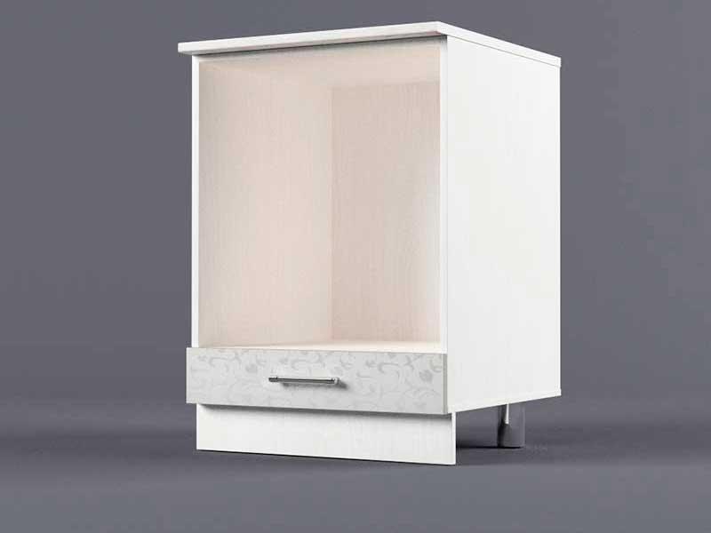 Шкаф напольный Н600 под плиту 850х600х600 Белые цветы