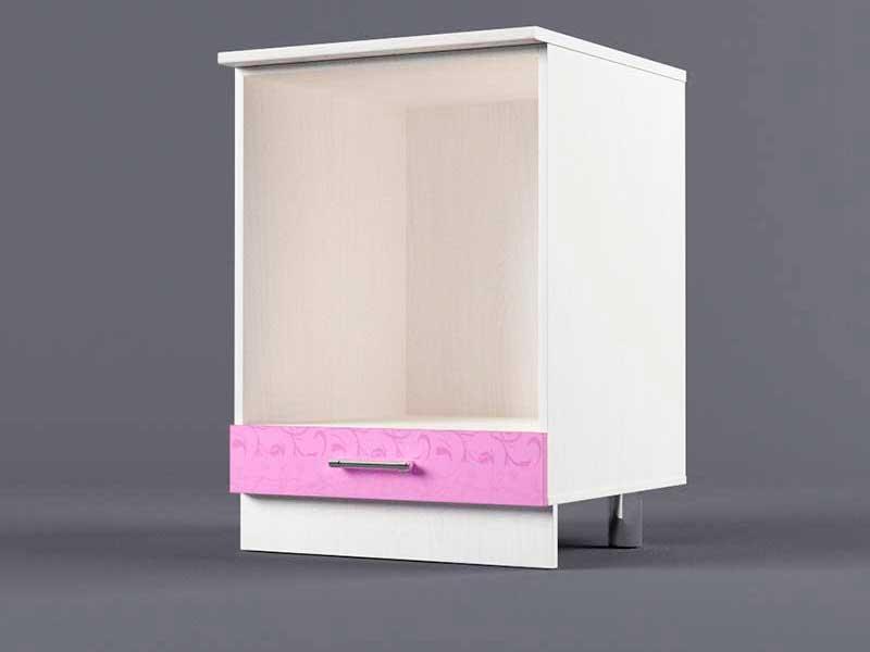 Шкаф напольный Н600 под плиту 850х600х600 Фиолетовый