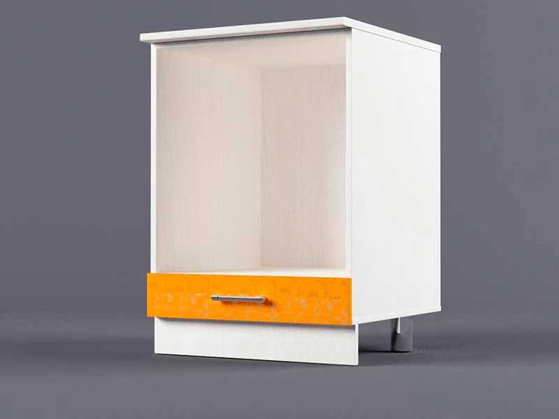 Шкаф напольный Н600 под плиту 850х600х600 Оранжевый