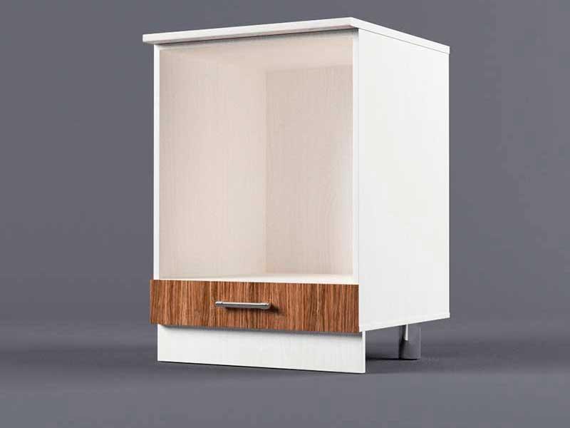 Шкаф напольный Н600 под плиту 850х600х600 Бодега темная