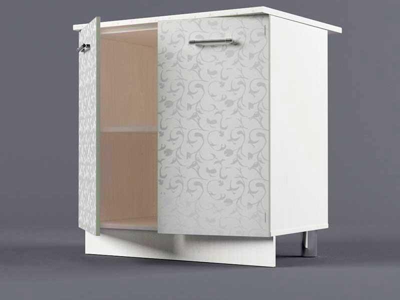 Шкаф напольный Н800 2дв 850х800х600 Белые цветы