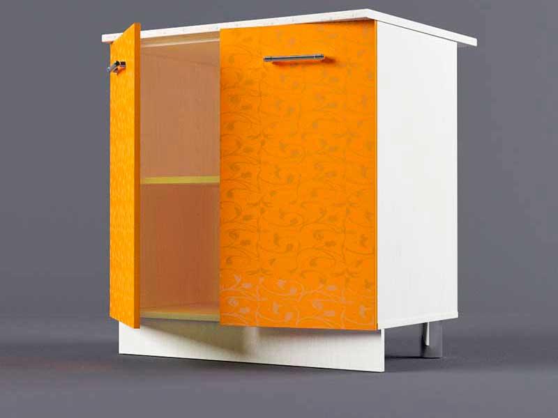 Шкаф напольный Н800 2дв 850х800х600 Оранжевый