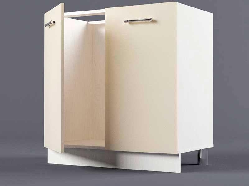 Шкаф напольный Н800 2дв под мойку 850х800х600 Бежевый
