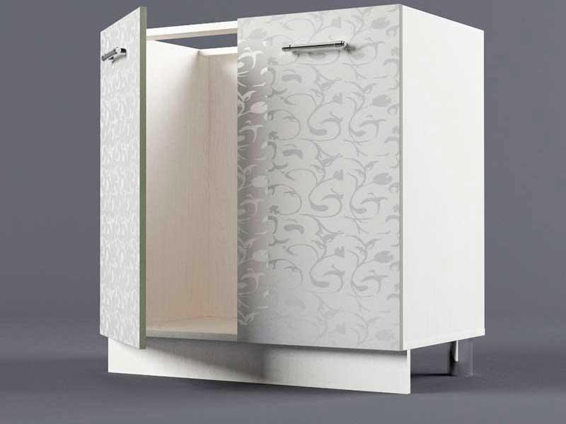Шкаф напольный Н800 2дв под мойку 850х800х600 Белые цветы