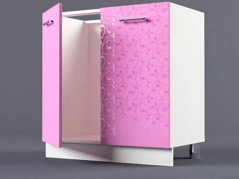 Шкаф напольный Н800 2дв под мойку 850х800х600 Фиолетовый