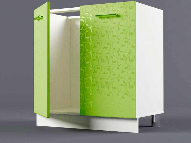 Шкаф напольный Н800 2дв под мойку 850х800х600 Лимон