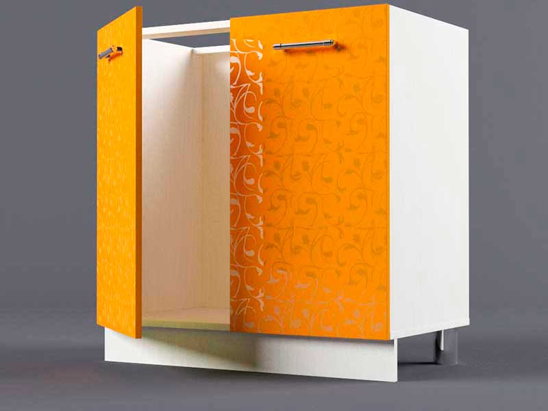 Шкаф напольный Н800 2дв под мойку 850х800х600 Оранжевый