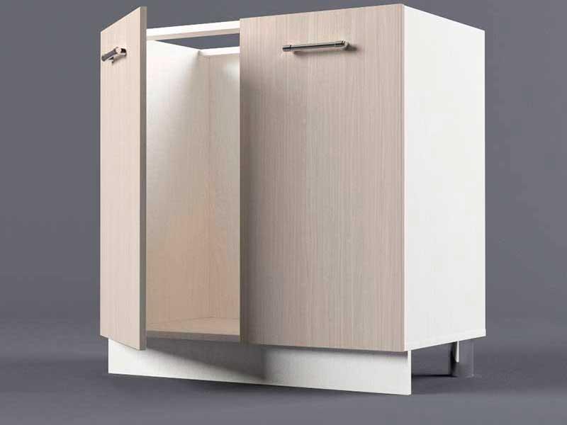 Шкаф напольный Н800 2дв под мойку 850х800х600 Шимо светлый