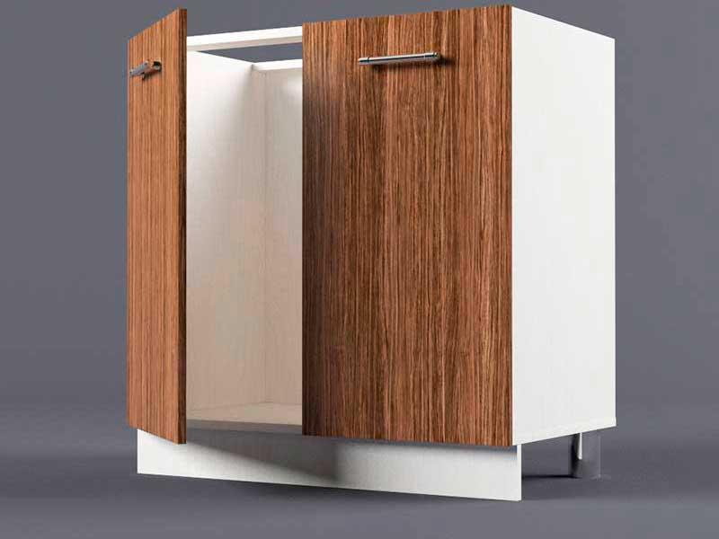 Шкаф напольный Н800 2дв под мойку 850х800х600 Бодега темная