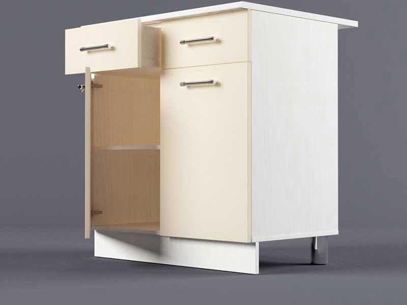 Шкаф напольный Н800 2ящ 2дв 850х800х600 Бежевый