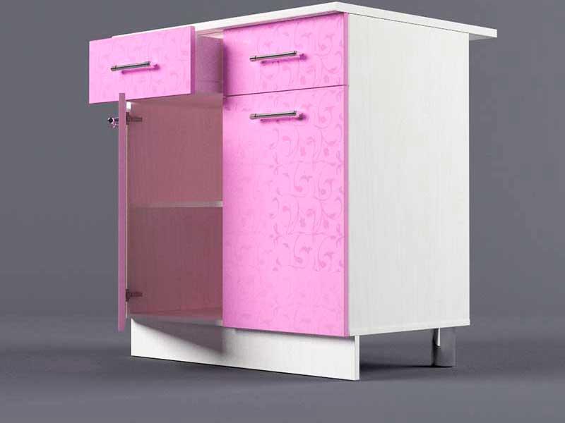 Шкаф напольный Н800 2ящ 2дв 850х800х600 Фиолетовый
