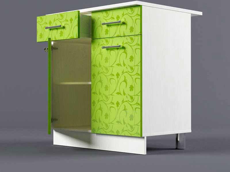 Шкаф напольный Н800 2ящ 2дв 850х800х600 Лимон