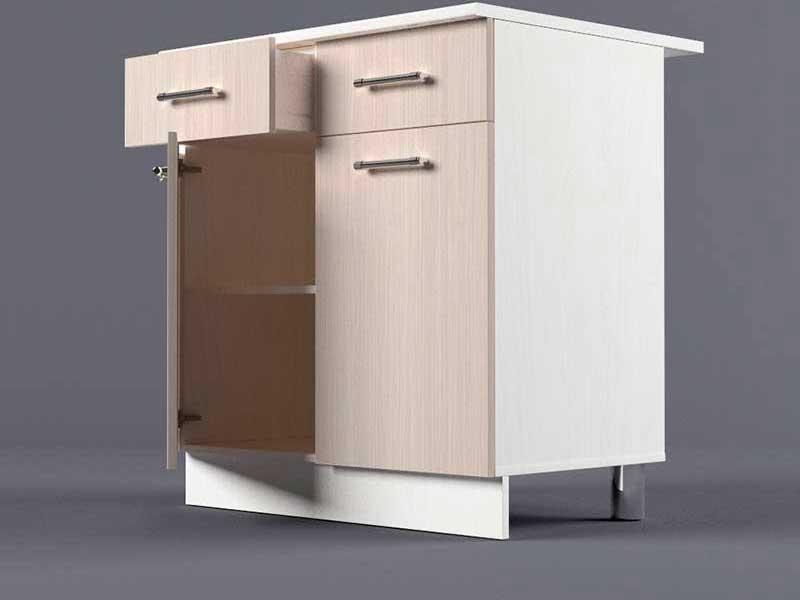 Шкаф напольный Н800 2ящ 2дв 850х800х600 Шимо светлый