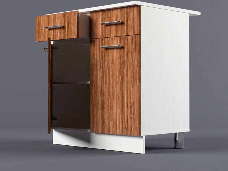 Шкаф напольный Н800 2ящ 2дв 850х800х600 Бодега темная