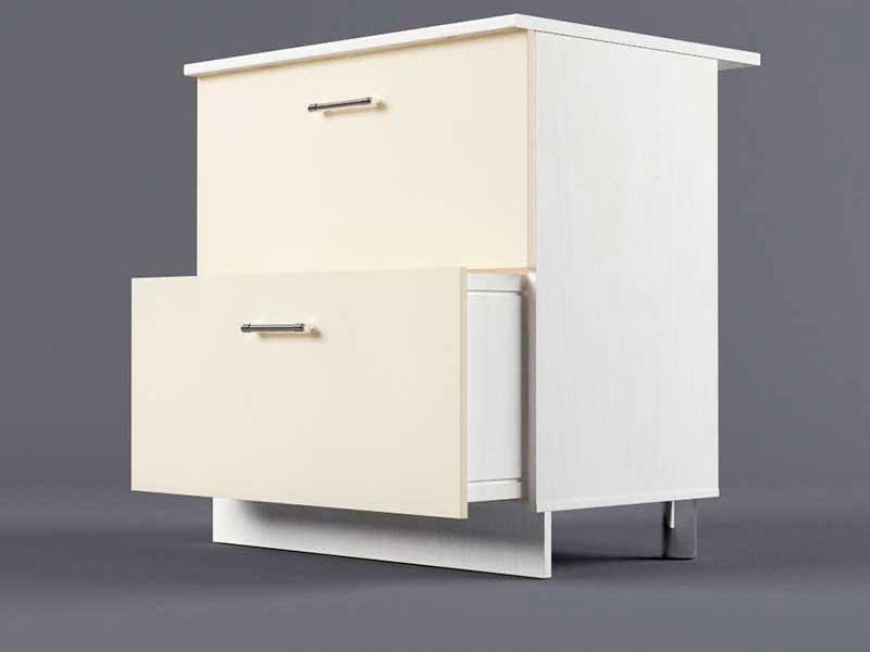 Шкаф напольный Н800 2ящ 850х800х600 Бежевый