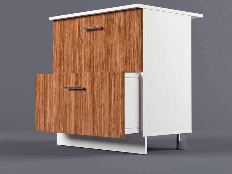 Шкаф напольный Н800 2ящ 850х800х600 Бодега темная