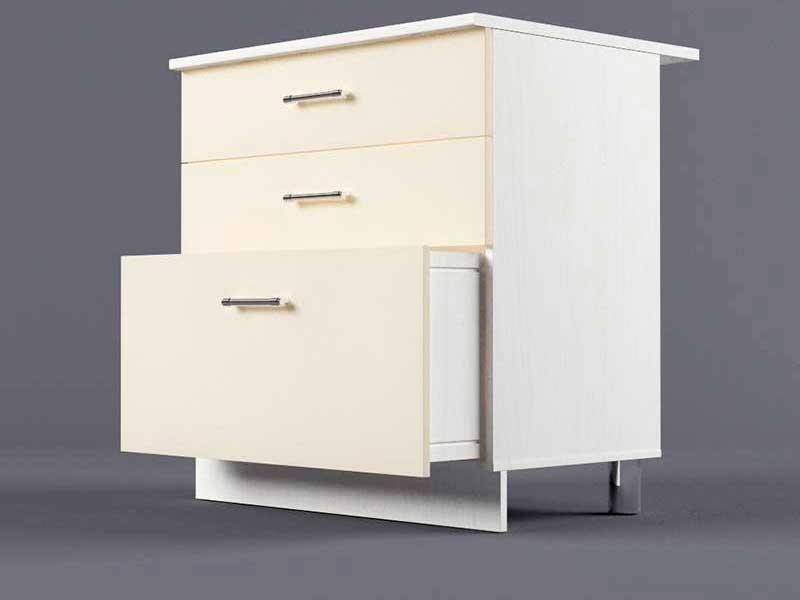 Шкаф напольный Н800 3ящ 850х800х600 Бежевый