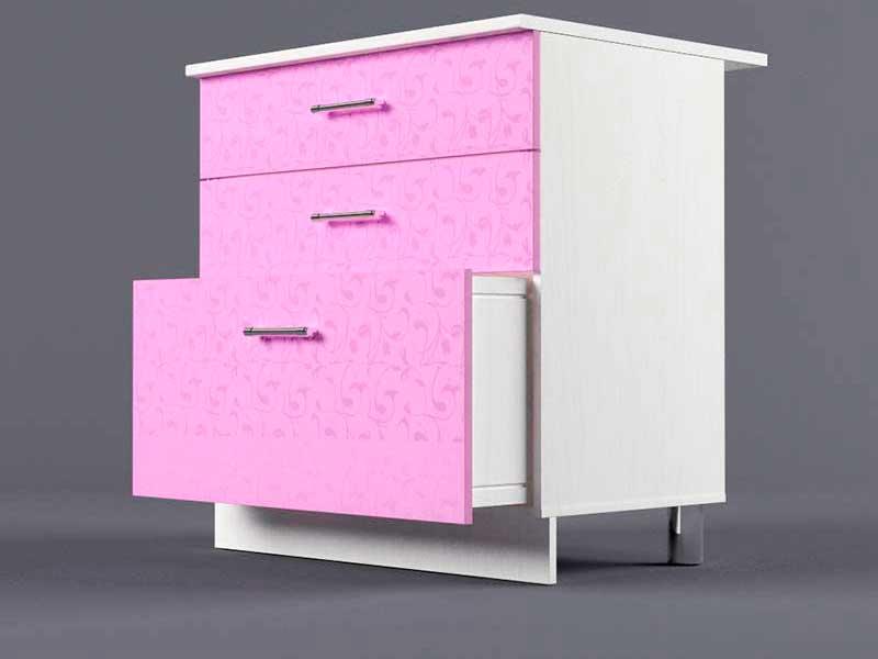 Шкаф напольный Н800 3ящ 850х800х600 Фиолетовый