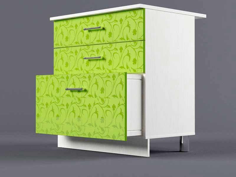 Шкаф напольный Н800 3ящ 850х800х600 Лимон