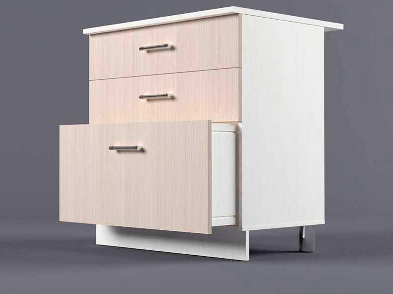Шкаф напольный Н800 3ящ 850х800х600 Шимо светлый