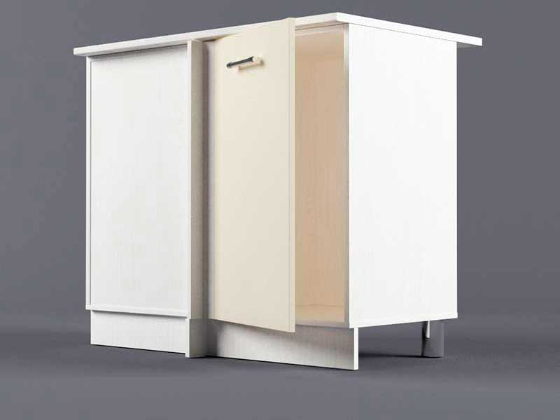 Шкаф напольный НУ1000 1дв угол левый 850х1000х600 Бежевый