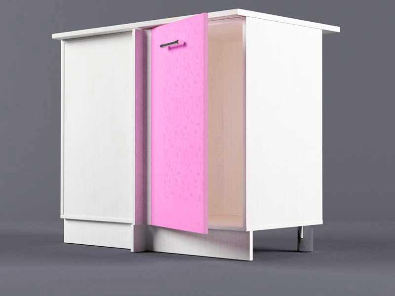 Шкаф напольный НУ1000 1дв угол левый 850х1000х600 Фиолетовый
