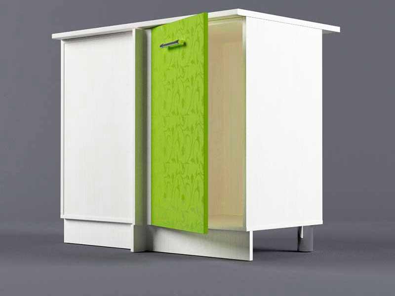 Шкаф напольный НУ1000 1дв угол левый 850х1000х600 Лимон
