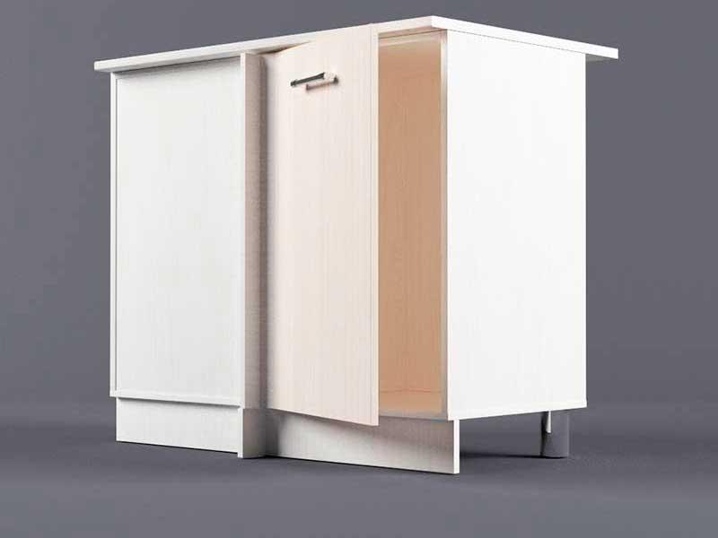 Шкаф напольный НУ1000 1дв угол левый 850х1000х600 Шимо светлый