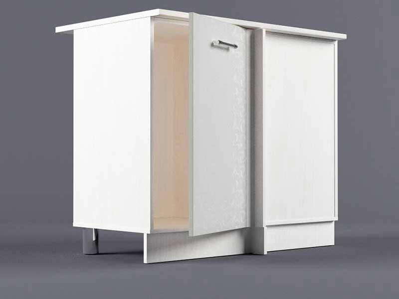 Шкаф напольный НУ1000 1дв угол правый 850х1000х600 Белые цветы