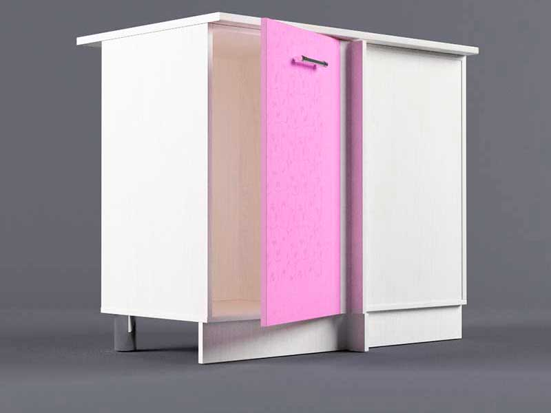 Шкаф напольный НУ1000 1дв угол правый 850х1000х600 Фиолетовый