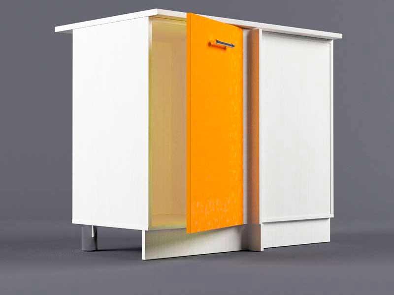 Шкаф напольный НУ1000 1дв угол правый 850х1000х600 Оранжевый