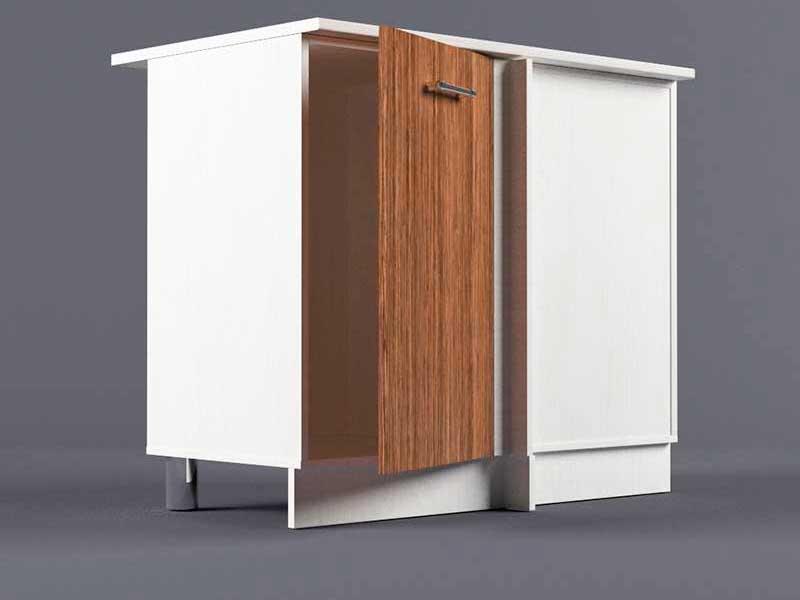 Шкаф напольный НУ1000 1дв угол правый 850х1000х600 Бодега темная