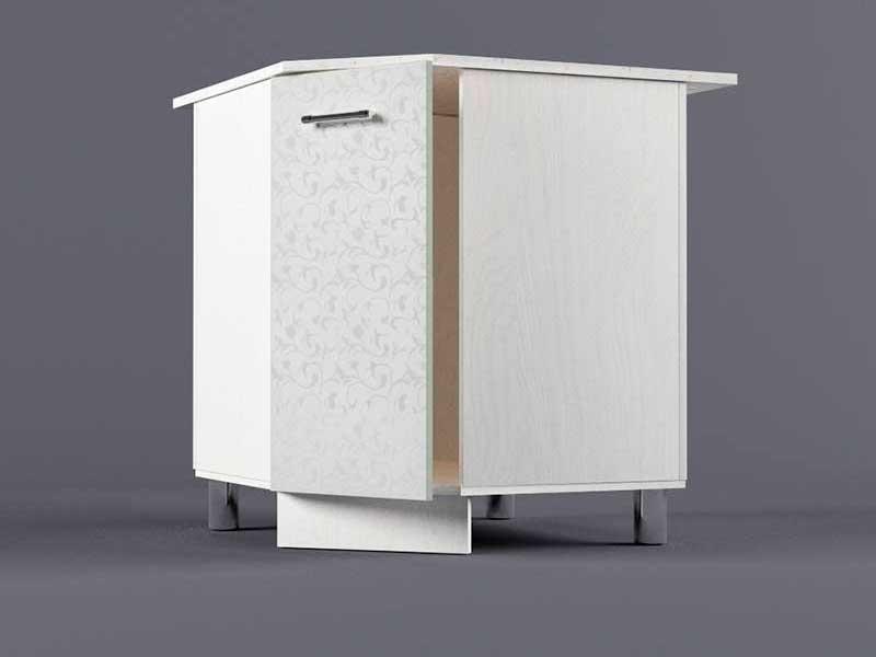 Шкаф напольный НУ800х800 1дв 850х800-800х600 Белые цветы