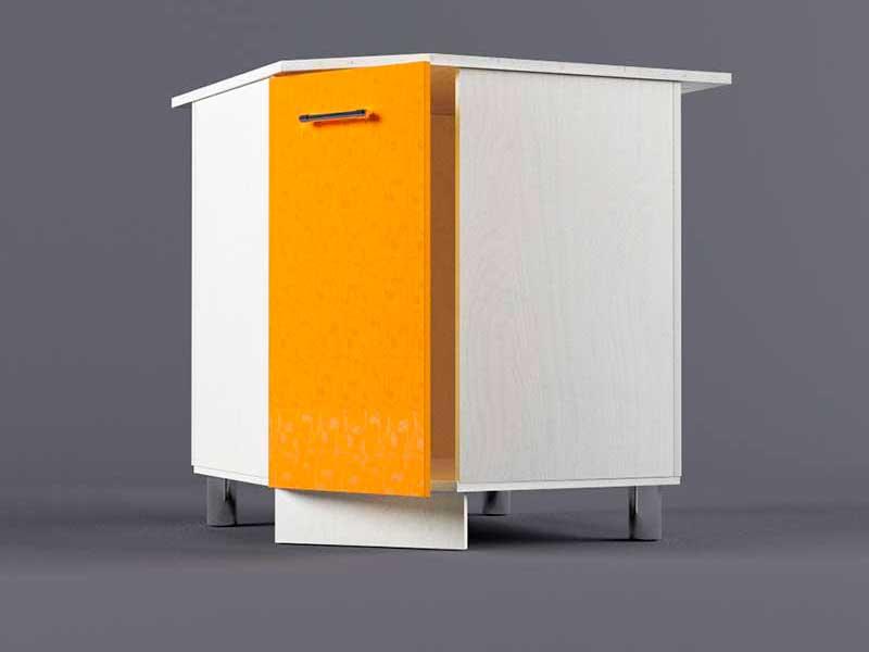 Шкаф напольный НУ800х800 1дв 850х800-800х600 Оранжевый