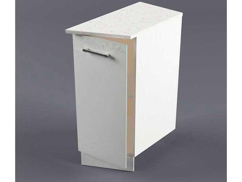 Шкаф напольный НУЗ 300 1дв скошеный правый 550 850х300х600 Белые цветы
