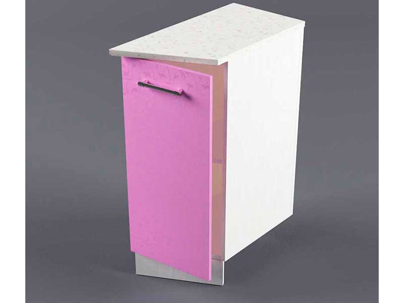 Шкаф напольный НУЗ 300 1дв скошеный правый 550 850х300х600 Фиолетовый