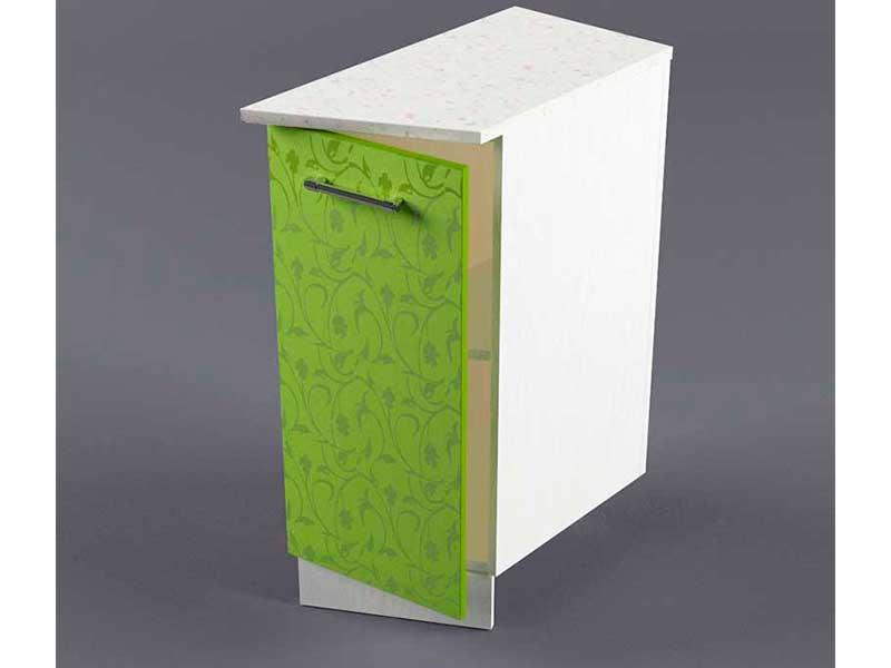 Шкаф напольный НУЗ 300 1дв скошеный правый 550 850х300х600 Лимон