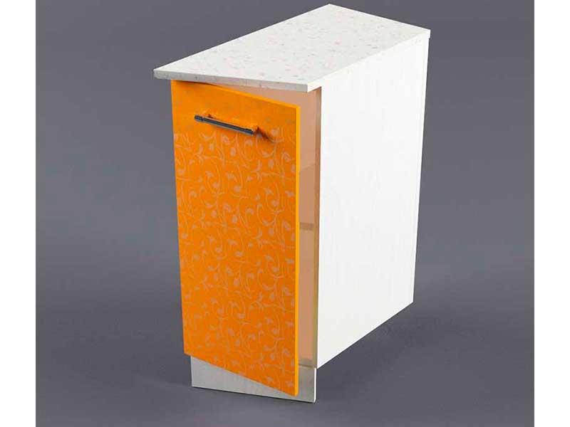 Шкаф напольный НУЗ 300 1дв скошеный правый 550 850х300х600 Оранжевый