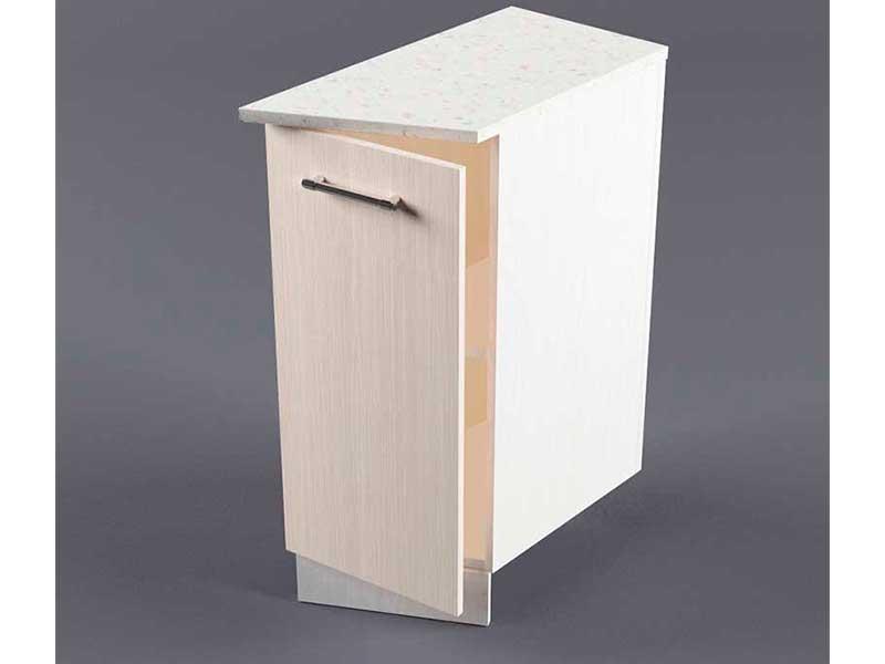 Шкаф напольный НУЗ 300 1дв скошеный правый 550 850х300х600 Шимо светлый