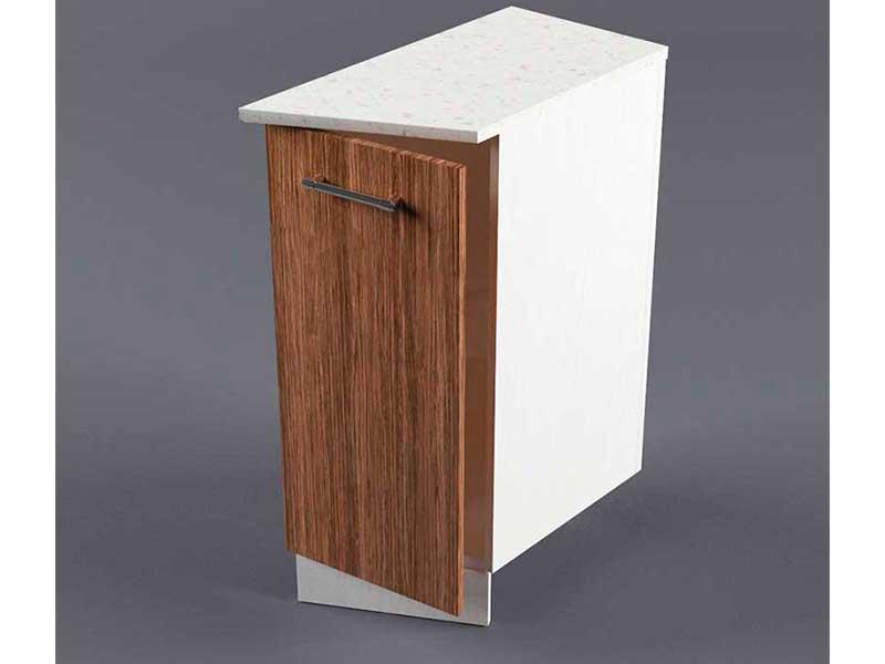 Шкаф напольный НУЗ 300 1дв скошеный правый 550 850х300х600 Бодега темная