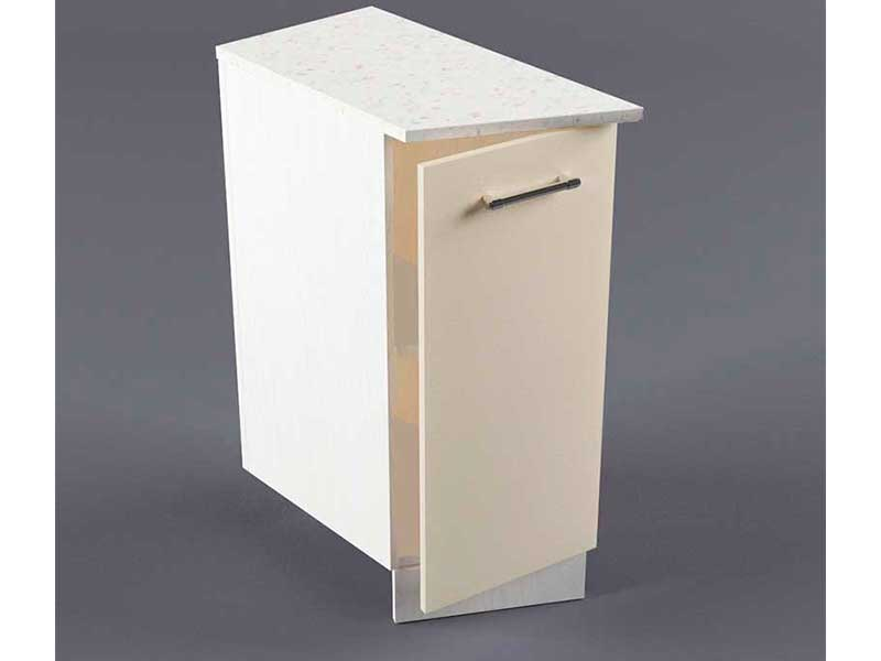 Шкаф напольный НУЗ 300 1дв скошеный левый 550 850х300х600 Бежевый