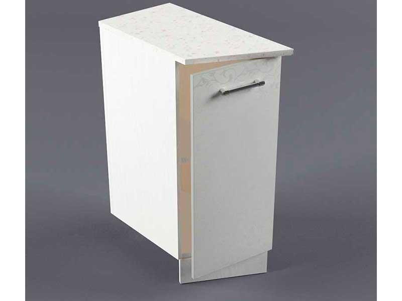 Шкаф напольный НУЗ 300 1дв скошеный левый 550 850х300х600 Белые цветы