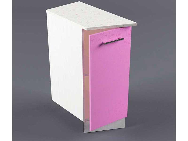 Шкаф напольный НУЗ 300 1дв скошеный левый 550 850х300х600 Фиолетовый