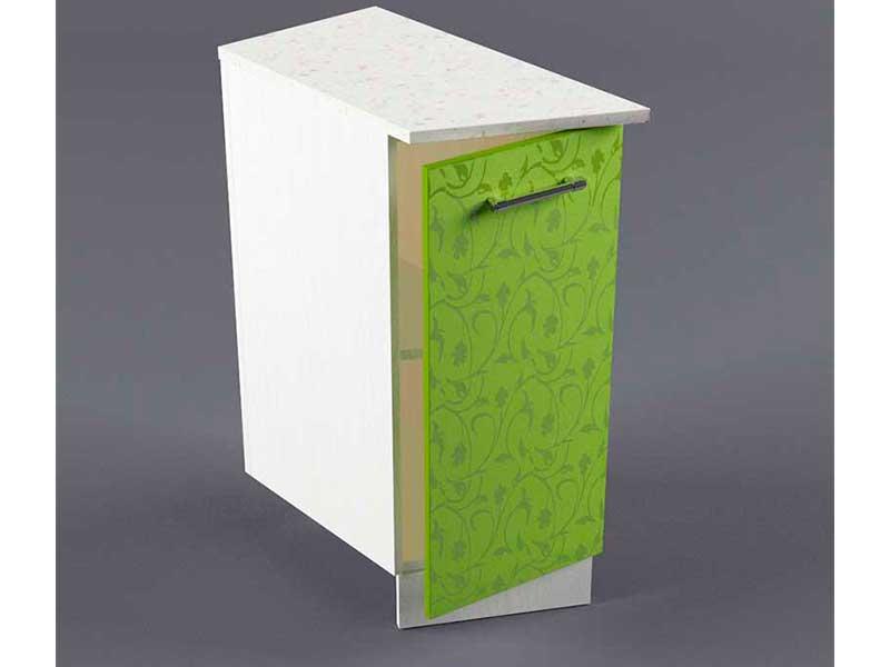 Шкаф напольный НУЗ 300 1дв скошеный левый 550 850х300х600 Лимон
