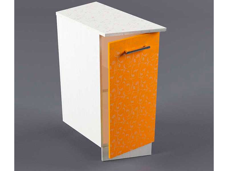 Шкаф напольный НУЗ 300 1дв скошеный левый 550 850х300х600 Оранжевый