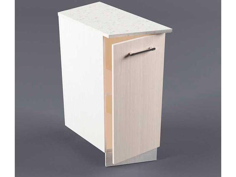 Шкаф напольный НУЗ 300 1дв скошеный левый 550 850х300х600 Шимо светлый