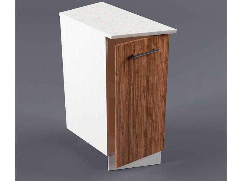 Шкаф напольный НУЗ 300 1дв скошеный левый 550 850х300х600 Бодега темная