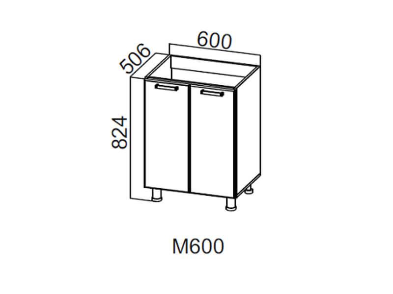 Стол-рабочий 600 под мойку М600 824х600х506-600мм